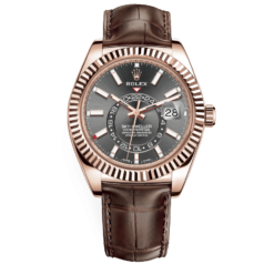 Rolex Sky-Dweller 326135 Dark Rhodium Dial 18kt Everose Gold