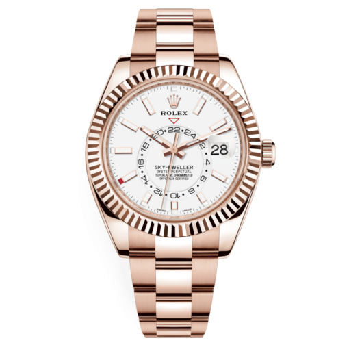 Rolex Sky-Dweller 326935 White dial Automatic Men's 18kt Ever rose Gold Watch