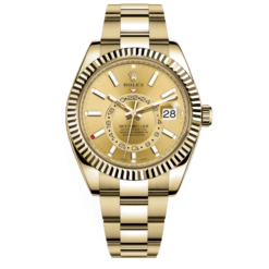 Rolex Sky-Dweller Champagne Dial 326938 Automatic 18kt Yellow Gold Watch