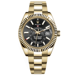 Rolex Sky-Dweller 326938 Black Dial Automatic 18kt Yellow Gold Watch