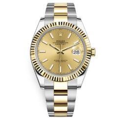 Rolex Datejust 126333 Champagne Index Oyster