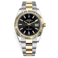 Rolex Datejust 126333 Black Index Oyster