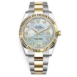 Rolex Datejust 126333 White MOP Diamond Oyster