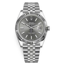 Rolex Datejust 126334 Dark Rhodium Index Jubilee 41mm Stainless Steel Mens Watch