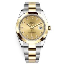 Rolex Datejust 41mm 126303 Champagne Diamond Oyster
