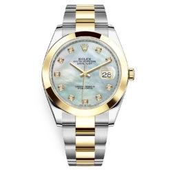 Rolex Datejust 41mm 126303 White MOP Diamond Oyster