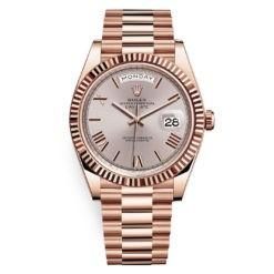 Rolex Day-Date 228235 Sundust Roman 40mm Everose Gold Mens Watch