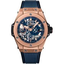 Hublot Big Bang Meca-10 45mm Mens Watch 414.OI.5123.RX King Gold Blue