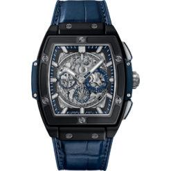 Hublot Spirit Of Big Bang Chronograph 45mm Mens Watch 601.ci.7170.lr Ceramic Blue