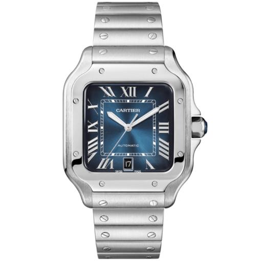 Cartier Santos WSSA0030 De Blue Dial Men's Watch