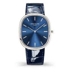 Patek Philippe 5738P-001 Golden Ellipse Automatic Blue Dial Watch