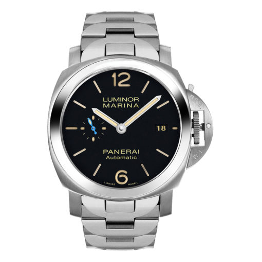 Panerai PAM00722 Luminor SS on Bracelet Black Dial Watch