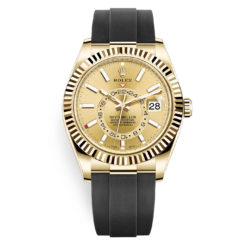 Rolex Sky-Dweller 326238 Champagne Dial Automatic 18k Yellow Gold Watch