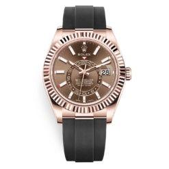 Rolex Sky-Dweller 326235 Chocolate Index Dial 18k Everose Watch