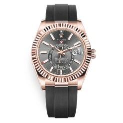 Rolex Sky-Dweller 326235 Slate Index Dial 18k Everose Watch