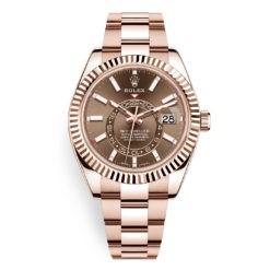 Rolex Sky-Dweller 326935 Chocolate Index Dial 18k Everose Watch
