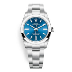 Rolex Oyster Perpetual 124200 Blue Index Dial 34mm Watch
