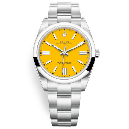 Rolex Oyster Perpetual 124300 Yellow Index Dial Oyster Bracelet Watch