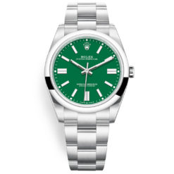 Rolex Oyster Perpetual 124300 Green Index Dial Oyster Bracelet Watch
