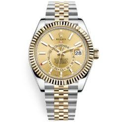 Rolex Sky-Dweller 326933 Champagne Dial 42mm Jubilee Bracelet Watch