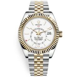 Rolex Sky-Dweller 326933 White Index Dial 42mm Jubilee Bracelet Watch