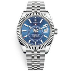 Rolex Sky-Dweller 326934 Blue Index 42mm Jubilee Bracelet Watch