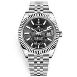 Rolex Sky-Dweller 326934 Black Index 42mm Jubilee Bracelet Watch