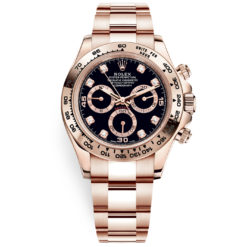 Rolex Cosmograph Daytona 116505 Black Diamond Dial Everose Gold Watch