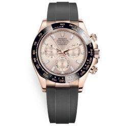Rolex Cosmograph Daytona 116515ln Sundust Diamond Dial Oysterflex Everose Watch