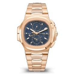 Patek Philippe 5990/1R-001 Nautilus Travel Time Chronograph 18k Rose gold Watch