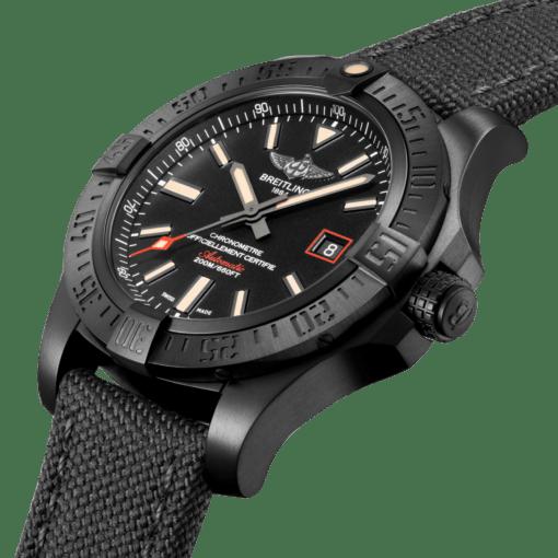 Breitling V17311101B1W1 Avenger Blackbird 44 DLC-Coated Titanium - Black Watch