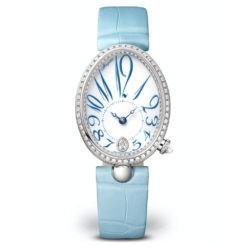 Breguet 8918BB28964D00D Reine de Naples Automatic White Dial Alligator Strap Women's Watch