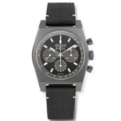 Zenith Chronomaster Black Dial Black Fabric Strap Men's Watch 97.T384.4061/21.C822