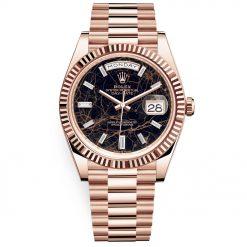 Rolex 228235 Day-Date 40mm 18K Rose Gold Eisenkiesel Diamond Dial